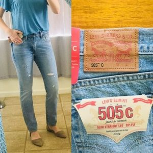 🔥🔥🔥NWT Levi 505 straight leg Jeans